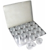 Aluminium Box With 20 Pieces Containers 33mm with clear Lid